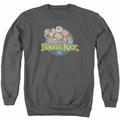 Fraggle Rock adult crewneck sweatshirt Circle Logo charcoal
