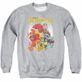 Fraggle Rock adult crewneck sweatshirt Group Hug athletic heather