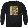 Fraggle Rock adult crewneck sweatshirt Squared black