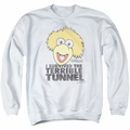 Fraggle Rock adult crewneck sweatshirt Terrible Tunnel white