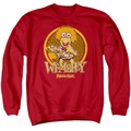 Fraggle Rock adult crewneck sweatshirt Wembley Circle red