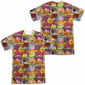 Fraggle Rock mens full sublimation t-shirt Character Squares