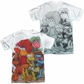 Fraggle Rock mens full sublimation t-shirt Group Shot