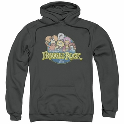 Fraggle Rock pull-over hoodie Circle Logo adult charcoal