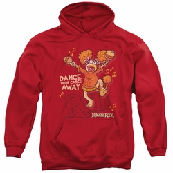 Fraggle Rock pull-over hoodie Dance adult red
