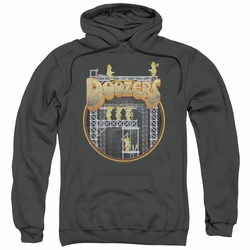 Fraggle Rock pull-over hoodie Doozers Construction adult charcoal