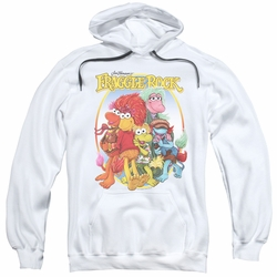 Fraggle Rock pull-over hoodie Group Hug adult white