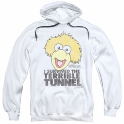 Fraggle Rock pull-over hoodie Terrible Tunnel adult white
