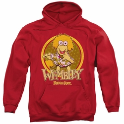 Fraggle Rock pull-over hoodie Wembley Circle adult red