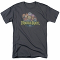 Fraggle Rock t-shirt Circle Logo mens charcoal