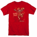 Fraggle Rock t-shirt Dance mens red