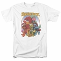 Fraggle Rock t-shirt Group Hug mens white