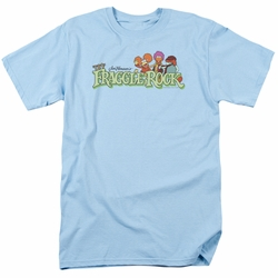 Fraggle Rock t-shirt Leaf Logo mens light blue