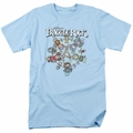 Fraggle Rock t-shirt Spinning Gang mens light blue