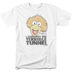 Fraggle Rock t-shirt Terrible Tunnel mens white