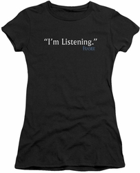 Frasier juniors t-shirt I'm Listening black