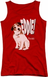 Frasier juniors tank top Eddie red