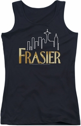 Frasier juniors tank top Frasier Logo black