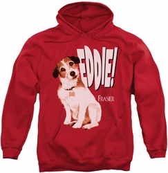 Frasier pull-over hoodie Eddie adult red