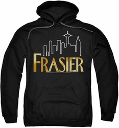 Frasier pull-over hoodie Frasier Logo adult black