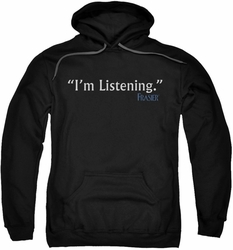 Frasier pull-over hoodie I'm Listening adult black