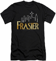 Frasier slim-fit t-shirt Frasier Logo mens black