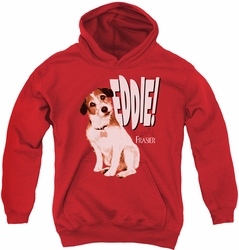 Frasier youth teen hoodie Eddie red