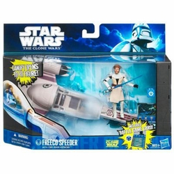 Freeco Speeder with Obi-Wan Kenobi Star Wars vehicle figure set
