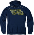 Friday Night Lights pull-over hoodie Clear Eyes adult navy