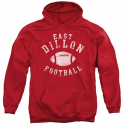 Friday Night Lights pull-over hoodie East Dillon Football adult red
