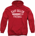 Friday Night Lights pull-over hoodie Lions Pill Box adult red