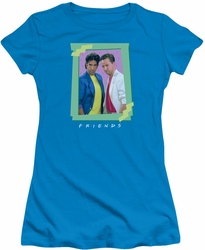 Friends juniors t-shirt 80s Flashback turquoise