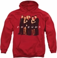 Friends pull-over hoodie Cast In Black adult red