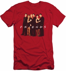 Friends slim-fit t-shirt Cast In Black mens red