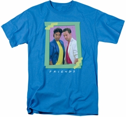 Friends t-shirt 80s Flashback mens turquoise