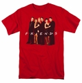 Friends t-shirt Cast In Black mens red