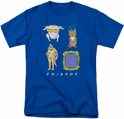 Friends t-shirt Symbols mens royal blue
