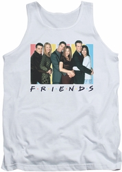 Friends tank top Cast Logo mens white