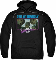 Galaxy Quest pull-over hoodie Cute But Deadly adult black