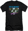 Galaxy Quest slim-fit t-shirt Cute But Deadly mens black