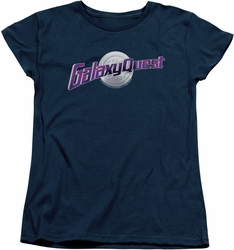 Galaxy Quest womens t-shirt Logo navy