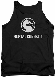 Game Mortal Kombat X tank top Dragon Logo mens black