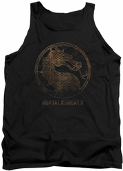 Game Mortal Kombat X tank top Metal Seal mens black