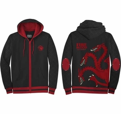 Game of Thrones hoodie Fire And Blood Targaryen mens black