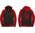 Game of Thrones hoodie Targaryen Sigil Fire And Blood mens black and red pre-order