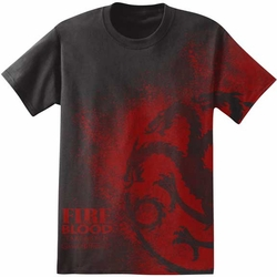 Game of Thrones t-shirt Fire And Blood Targaryen Sigil mens black