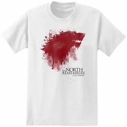 Game of Thrones t-shirt The North Remembers mens white