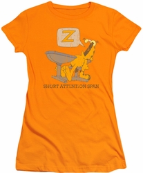 Garfield juniors t-shirt Attention Span orange