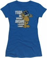 Garfield juniors t-shirt Awesome royal