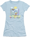 Garfield juniors t-shirt Beach Bums light blue